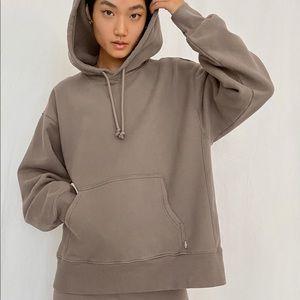 Aritzia tna boyfriend light hoodie (brown)